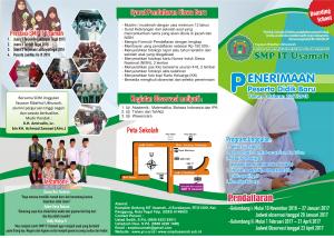 brosur SMP IT Usamah 1
