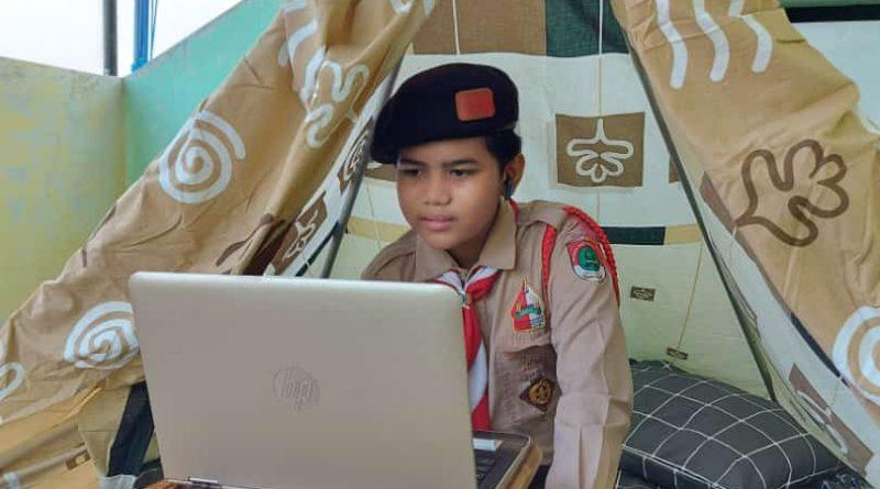 Camp Usamah Virtual SDIT Usamah Semarakkan HUT RI ke-76 dan Hari Pramuka