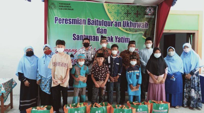 YRU Gelar Santunan Anak Yatim dan Resmikan Baitulqur'an Ukhuwah